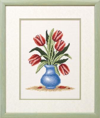 купить набор для вышивания крестом и бисером Кларт 8-033 Букет тюльпанов