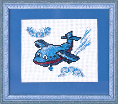 купить набор для вышивания крестом и бисером Кларт 8-057 Веселый самолетик