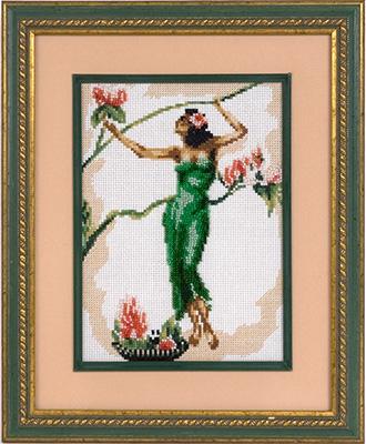 купить набор для вышивания крестом и бисером Кларт 7-103 Девушка в лианах