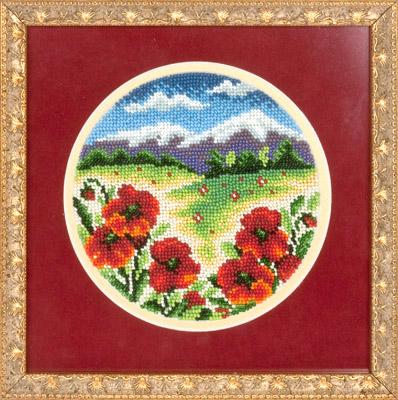 купить набор для вышивания крестом и бисером Кларт 8-069 Цветочная поляна