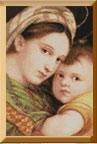 Набор для вышивания Мадонна с младенцем, Pinn CP-09 купить в санкт петербурге Шале, Aida 14, Счетный крест.