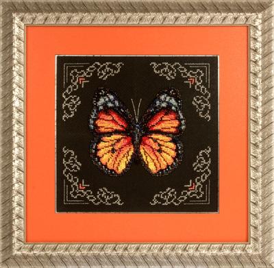 купить набор для вышивания крестом и бисером Кларт 8-113 Рыжая бабочка