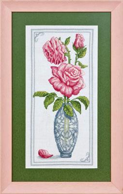 купить набор для вышивания крестом и бисером Кларт 8-063 Дамасская роза