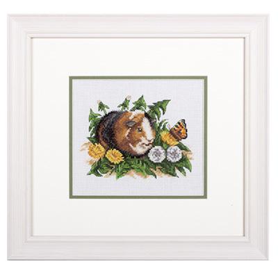 купить набор для вышивания крестом и бисером Кларт 8-210 Морская свинка
