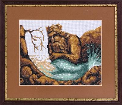 купить набор для вышивания крестом и бисером Кларт 7-093 Русалка в скалах