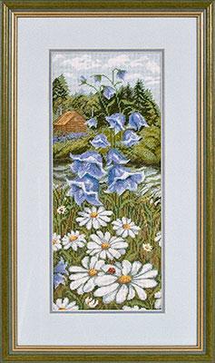 купить набор для вышивания крестом и бисером Кларт 8-035 Летний луг