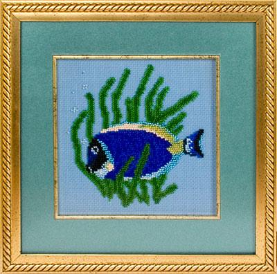 купить набор для вышивания крестом и бисером Кларт 8-021 Рыбка-хирург
