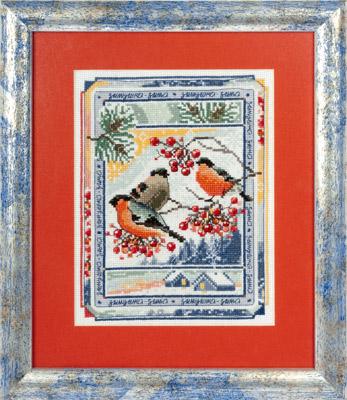 купить набор для вышивания крестом и бисером Кларт 8-101 Времена года. Зима.
