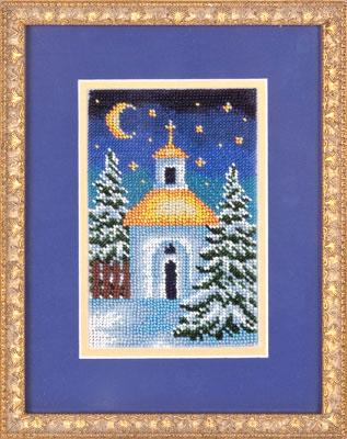 купить набор для вышивания крестом и бисером Кларт 8-053 Часовенка