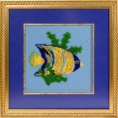 купить набор для вышивания крестом и бисером Кларт 8-022 Рыбка-ангел