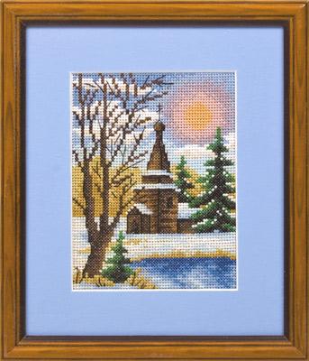 купить набор для вышивания крестом и бисером Кларт 8-027 Морозный денек