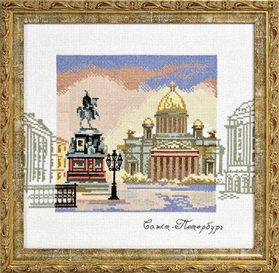 купить набор для вышивания крестом и бисером Кларт 8-025 Исаакиевская площадь
