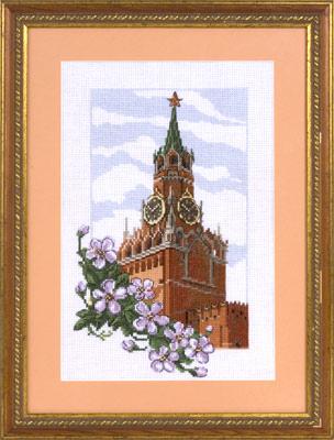 купить набор для вышивания крестом и бисером Кларт 7-100 Спасская башня