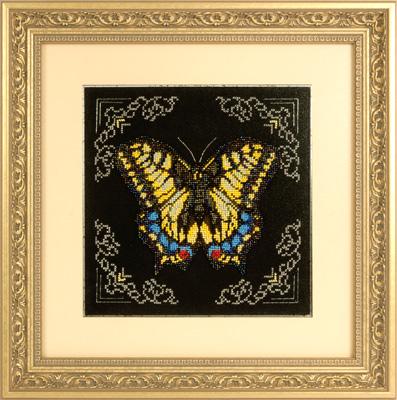 купить набор для вышивания крестом и бисером Кларт 8-114 Желтая бабочка