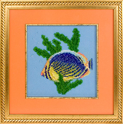купить набор для вышивания крестом и бисером Кларт 8-023 Рыбка-бабочка