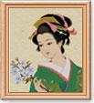 """Схема вышивки  """"geisha """""""