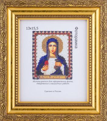 01 под золото рамка для икон ювелирным бисером.